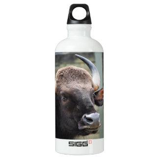 Portrait of a Gaur Aluminum Water Bottle