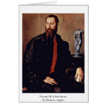 Portrait Of A Gentleman By Bronzino Angelo Greeting Card