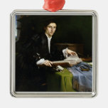 Portrait of a Gentleman in his Study, 1528-30 (oil Christmas Ornament