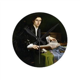 Portrait of a Gentleman in his Study, 1528-30 (oil Round Clock