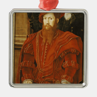 Portrait of a Gentleman of the English Court Metal Ornament