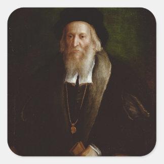 Portrait of a Gentleman Square Sticker