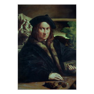 Portrait of a gentleman wearing a beret print