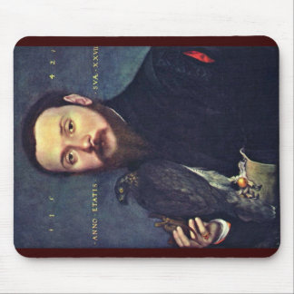 Portrait Of A Gentleman With A Falcon Mouse Pad