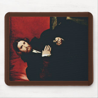 Portrait Of A Gentleman With A Lion'S Paw By Lotto Mouse Pad