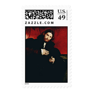 Portrait Of A Gentleman With A Lion'S Paw By Lotto Postage Stamps