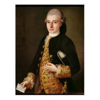 Portrait of a Gentleman with a Rose Buttonhole Postcard