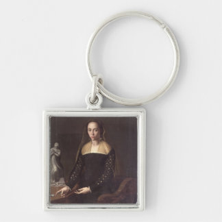 Portrait of a Gentlewoman, 1559 (oil on panel) Keychain