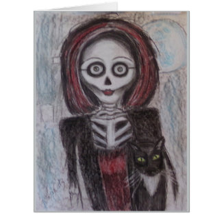 Portrait of a Ghost, Halloween Card