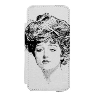 Portrait Of A  Gibson Girl, 1900 iPhone SE/5/5s Wallet Case