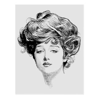 Portrait Of A  Gibson Girl, 1900 Postcard