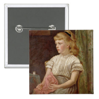 Portrait of a Girl, 1896 (oil on canvas) Button