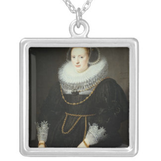Portrait of a Girl, aged 18 Silver Plated Necklace