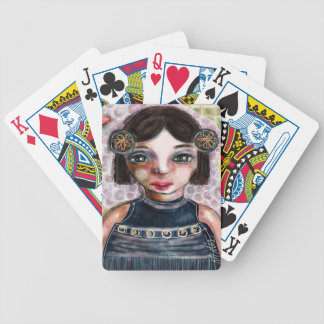 Portrait of a Girl Bicycle Playing Cards