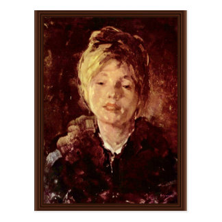 Portrait Of A Girl By Grigorescu Nicolae Postcards