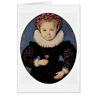 Portrait Of A Girl By Oliver D. A. Isaac Greeting Card