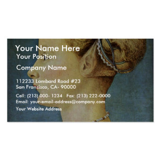Portrait Of A Girl By Pollaiuolo Piero Double-Sided Standard Business Cards (Pack Of 100)