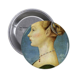 Portrait Of A Girl By Pollaiuolo Piero Pins