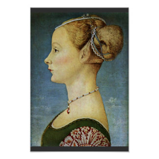 Portrait Of A Girl By Pollaiuolo Piero Poster