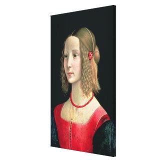Portrait of a Girl, c.1490 Canvas Print