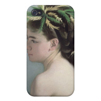 Portrait of a Girl holding a Sparrow iPhone 4 Case
