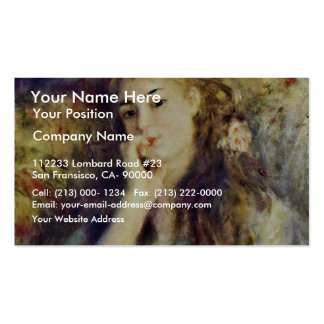 Portrait Of A Girl () In My Mind By Pierre-Auguste Double-Sided Standard Business Cards (Pack Of 100)