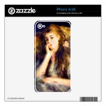 Portrait of a girl in thoughts by Pierre Renoir iPhone 4S Decal