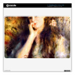 """Portrait of a girl in thoughts by Pierre Renoir 11"""" MacBook Air Decal"""