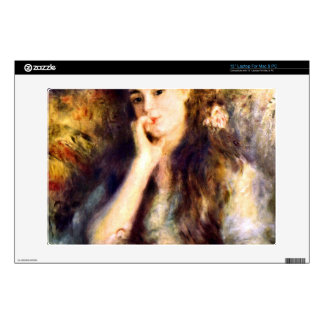 "Portrait of a girl in thoughts by Pierre Renoir Skin For 13"" Laptop"