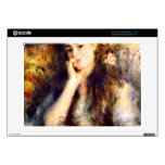 Portrait of a girl in thoughts by Pierre Renoir Skin For Acer Chromebook