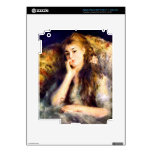 Portrait of a girl in thoughts by Pierre Renoir iPad 3 Skin