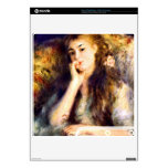 Portrait of a girl in thoughts by Pierre Renoir PS3 Slim Skins