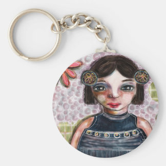 Portrait of a Girl Keychain