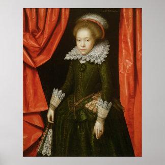 Portrait of a girl of the de Ligne family Poster