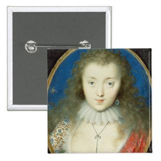 Portrait of a girl pinback button
