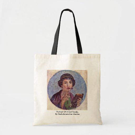Portrait Of A Girl Tondo Bags
