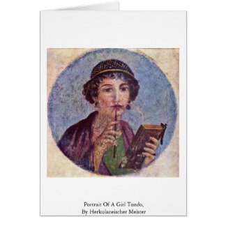 Portrait Of A Girl Tondo Greeting Card