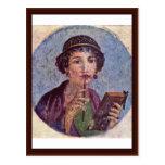 Portrait Of A Girl Tondo Post Card