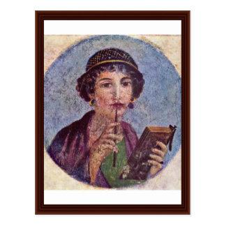 Portrait Of A Girl Tondo Postcard