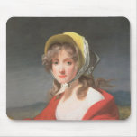 Portrait of a girl wearing a red shawl mouse pad