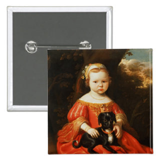 Portrait of a Girl with a Dog Pin