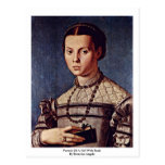 Portrait Of A Girl With Book By Bronzino Angelo Postcards
