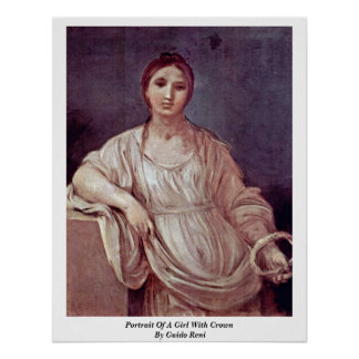 Portrait Of A Girl With Crown By Guido Reni Posters
