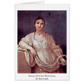 Portrait Of A Girl With Crown By Reni Guido Greeting Cards