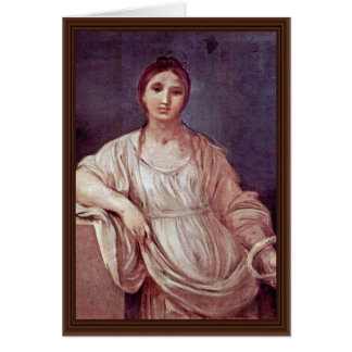 Portrait Of A Girl With Crown By Reni Guido Greeting Card