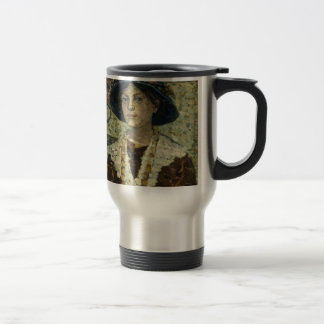 Portrait of a Girl with Flowers Travel Mug