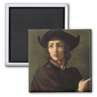 Portrait of a Goldsmith 2 Inch Square Magnet