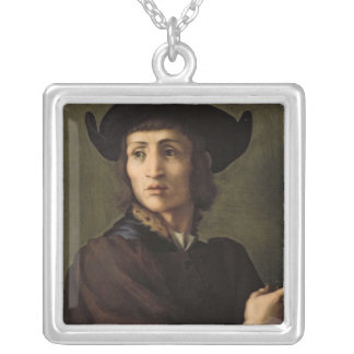 Portrait of a Goldsmith Silver Plated Necklace