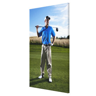 Portrait of a golfer on a sunny day. canvas print