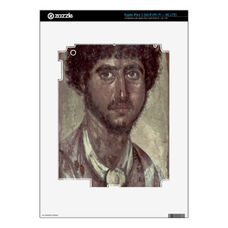 Portrait of a Greek, from Fayum, Romano-Egyptian, Decals For iPad 3